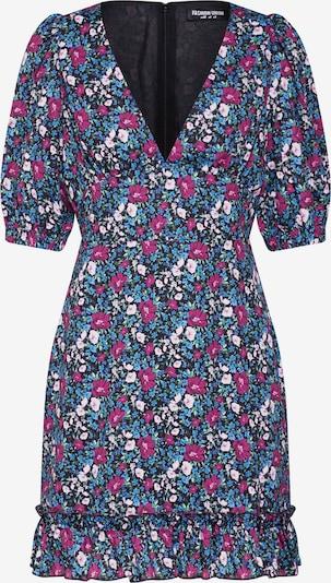 Fashion Union Haljina 'BOHEME' u plava / miks boja, Pregled proizvoda