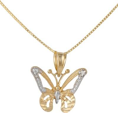 FIRETTI Halskette »Schmetterling« in Venzianerkettengliederung mit Diamant in gold / silber, Produktansicht
