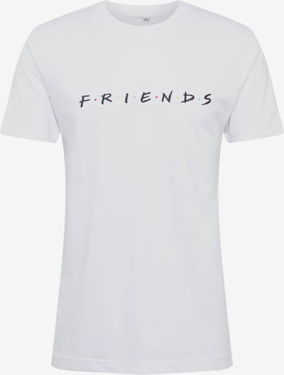 Mister Tee Shirt 'Friends Logo EMB Tee' in schwarz / weiß, Produktansicht