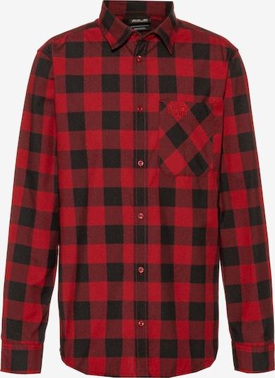JACK WOLFSKIN Hemd 'Red River' in rot / schwarz, Produktansicht