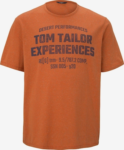 TOM TAILOR Men Plus T-Shirt in dunkelorange / schwarz, Produktansicht