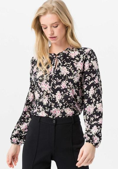 Uta Raasch Bluse aus 100% Seide in schwarz, Modelansicht