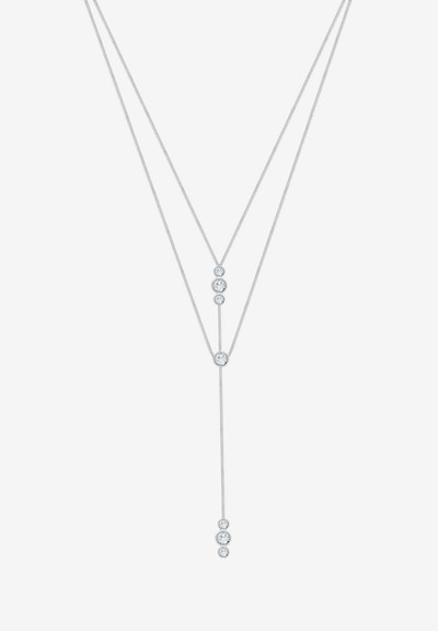 ELLI Necklace 'Layer' in Silver / White: Frontal view