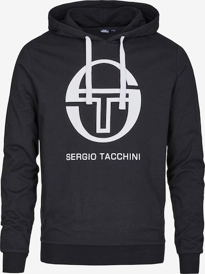 Sergio Tacchini Sportsweatshirt 'Comma' in de kleur Zwart / Wit, Productweergave