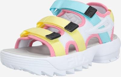 FILA Sandale 'Disruptor' in neongelb / weiß, Produktansicht