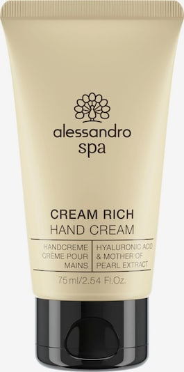 alessandro INTERNATIONAL Handcreme 'Spa Creme Rich' in beige, Produktansicht