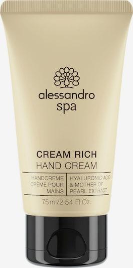 alessandro INTERNATIONAL Hand Cream 'Spa Creme Rich' in Beige, Item view