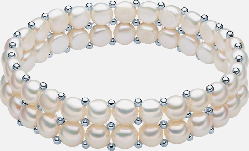 Valero Pearls Armband mit Süßwasser-Zuchtperlen und Sterlingsilber-Zwischenkügelchen