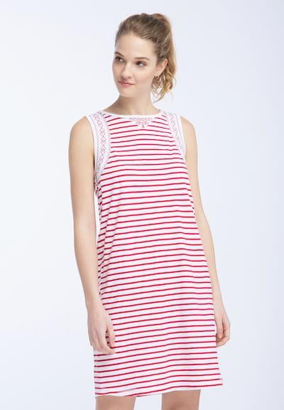 DREIMASTER Kleid in rot / weiß, Modelansicht