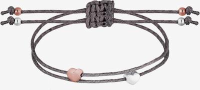 ELLI Armband 'Freundschaft-/Partner-Schmuck' in rosegold / dunkelgrau / silber, Produktansicht