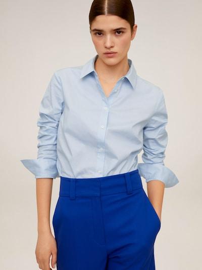 MANGO Blouse 'CAMISA SOFIA' in de kleur Lichtblauw, Modelweergave