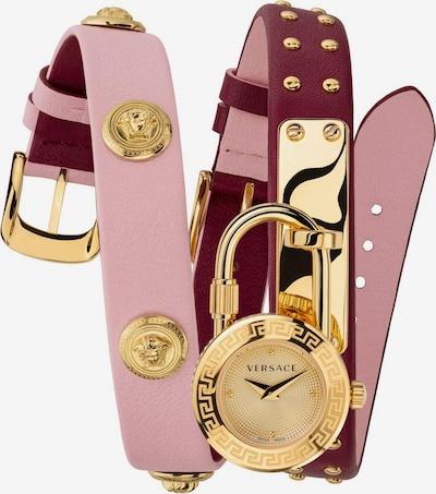 VERSACE Uhr 'VEDW00319' in gold / rosa / blutrot, Produktansicht
