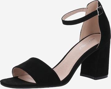 Sandales à lanières 'Alisha' ABOUT YOU en noir