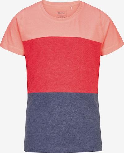 KILLTEC T-Shirt in blaumeliert / koralle / pink, Produktansicht