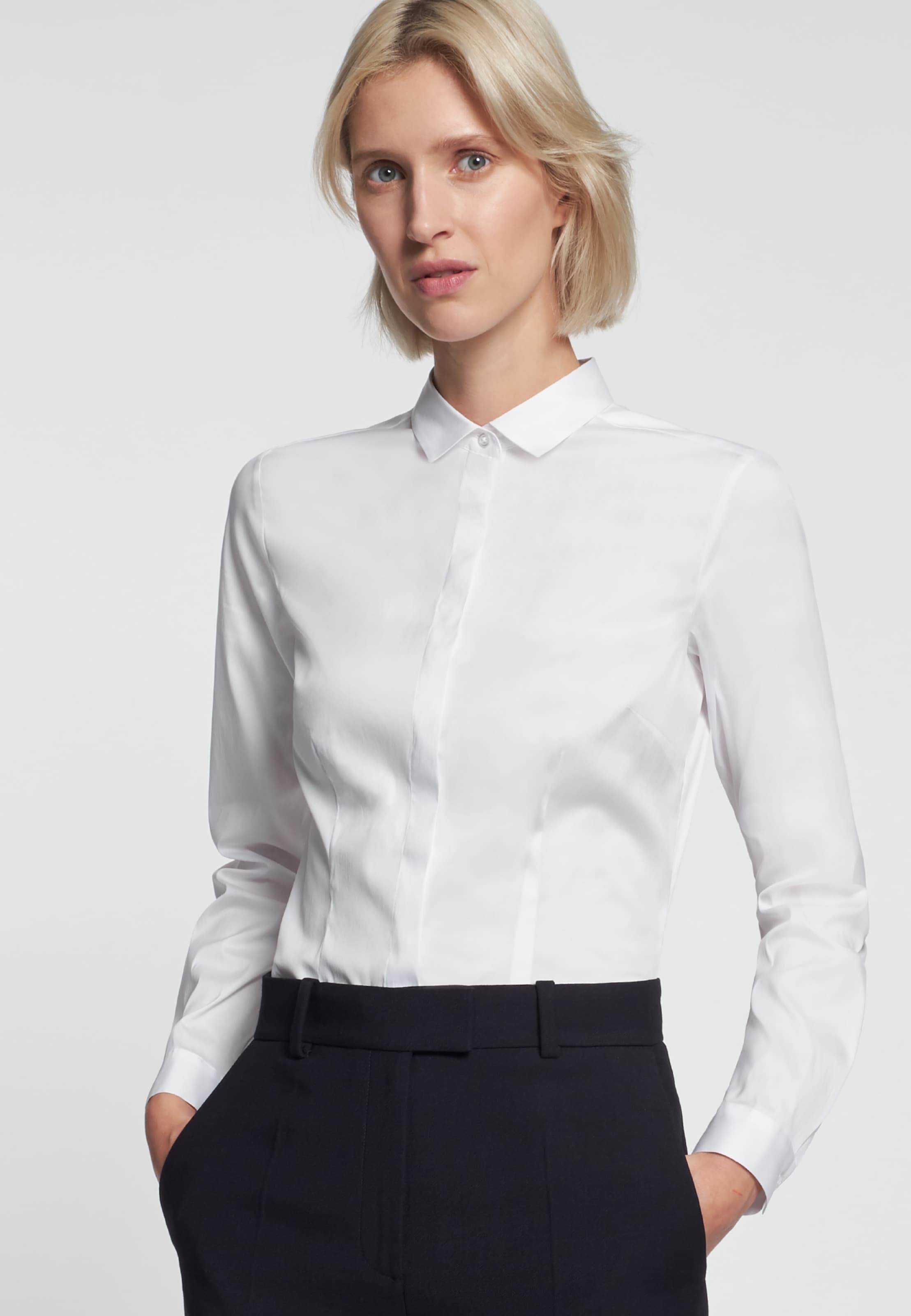 Seidensticker ' Weiß Schwarze Rose Bluse In Yfgyb7I6v