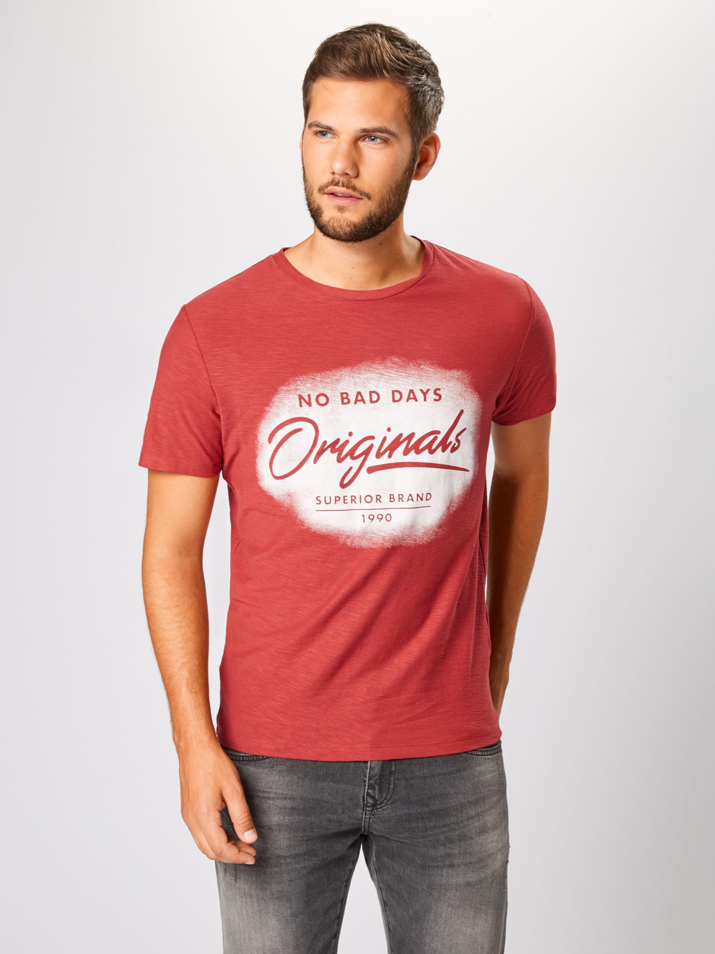 Jackamp; En Jones shirt Rouge T RouilleBlanc TKJc13Fl