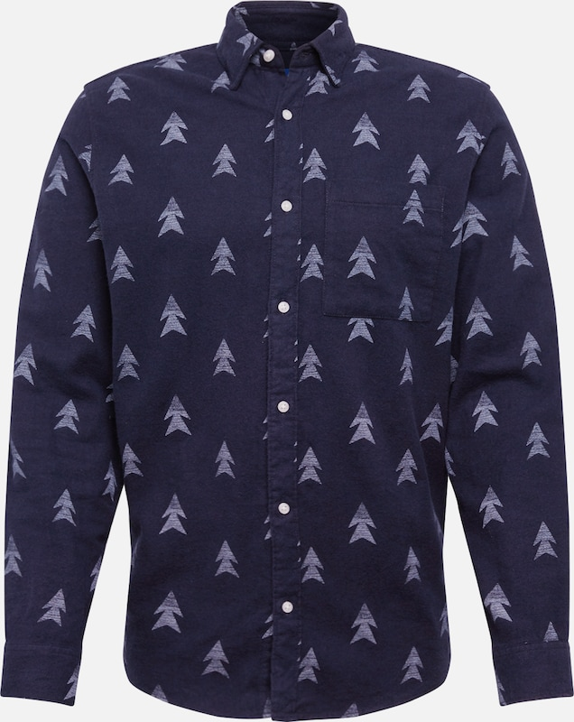 JACK & JONES Overhemd in de kleur Navy, Productweergave