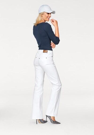 ARIZONA Bootcut-Jeans 'Comfort-Fit' in weiß, Produktansicht