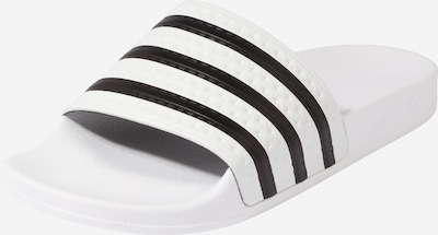 ADIDAS ORIGINALS Mule 'Adilette' in Black / White, Item view