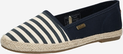 TOM TAILOR Espadrilles in de kleur Navy / Wit, Productweergave