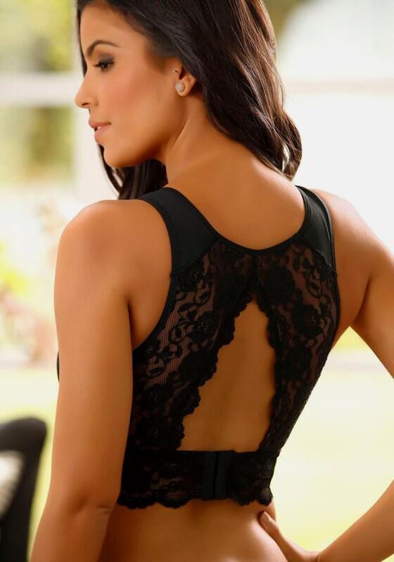 NUANCE Bralette-BH ohne Bügel mit dekorativem Rücken aus Spitze