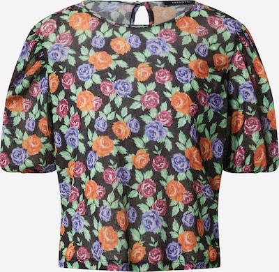 Trendyol Bluse in blau / orange / rosa / schwarz, Produktansicht