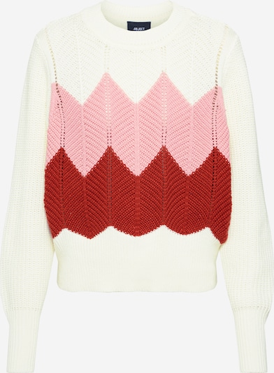 Megztinis 'OBJMIRIAM' iš OBJECT , spalva - rožių spalva / balta, Prekių apžvalga