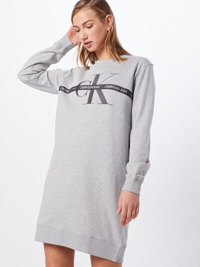 Calvin Klein Jeans Kleid 'TAPING THROUGH' in grau, Modelansicht