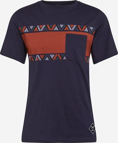 Iriedaily Majica 'Monte Noe' | mornarska / svetlo modra / oranžno rdeča / črna barva, Prikaz izdelka