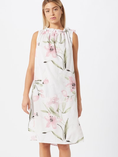 ZABAIONE Kleid 'Dilari' in hellgrün / pink / weiß, Modelansicht