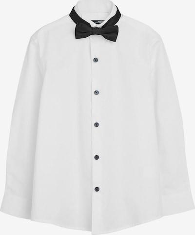 NEXT Hemd mit Fliege in schwarz / weiß, Produktansicht