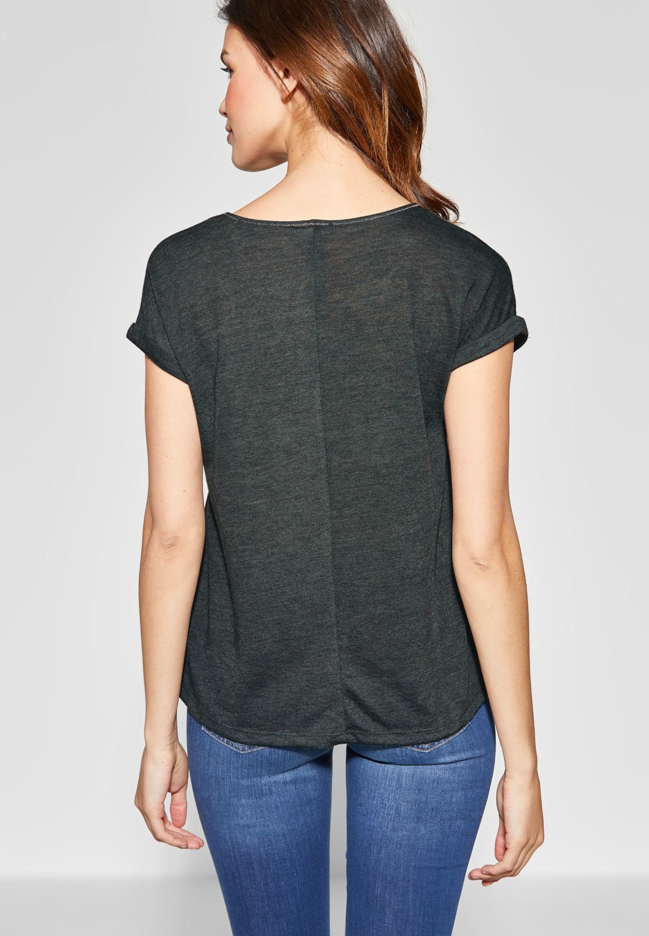 Wordingprint Street Lockeres Shirt Grün In One Ybyfg76