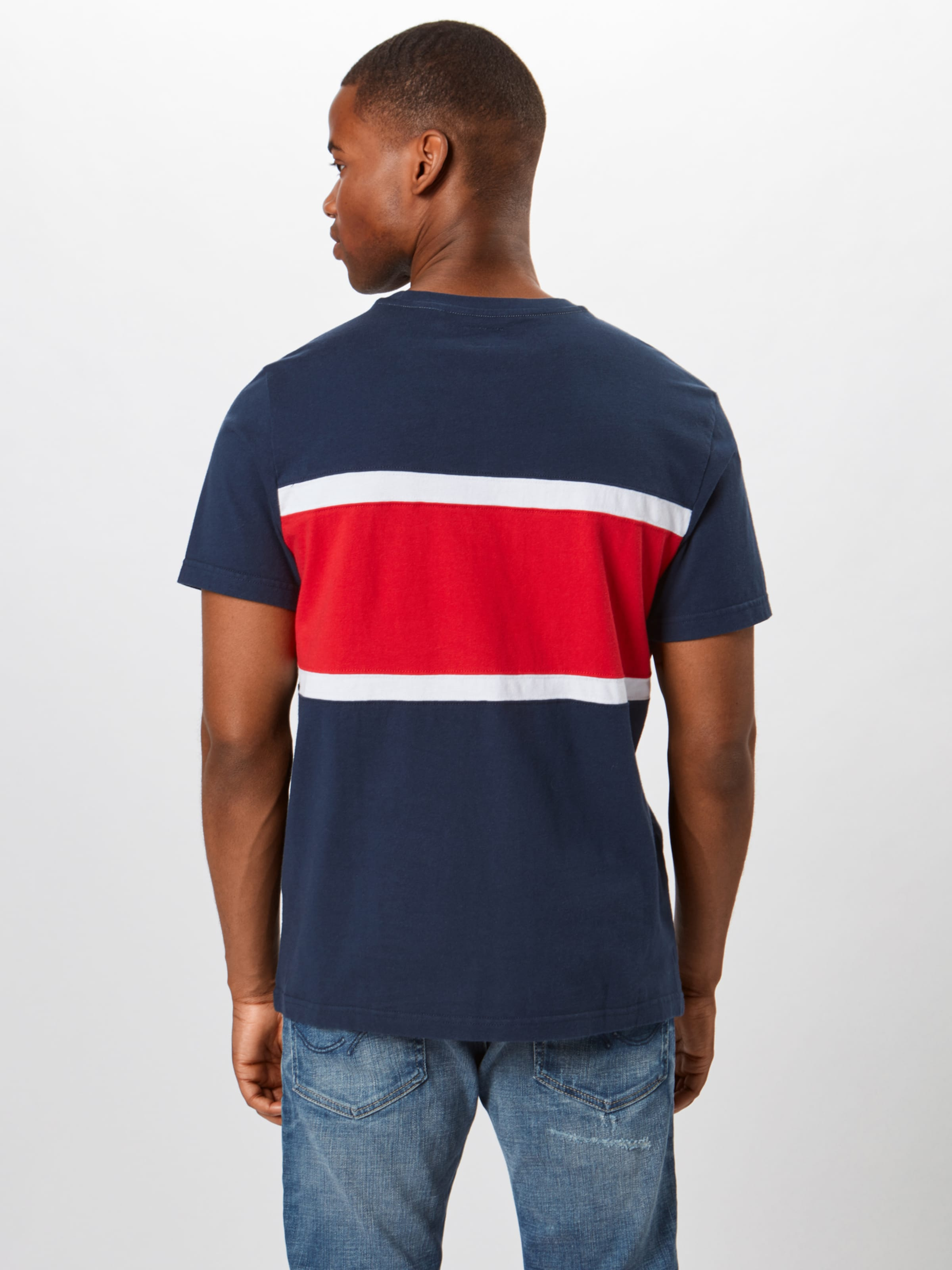 Levi's 'sscolorblockteejerse DunkelblauHellrot Shirt Y' In 7vIYb6gymf