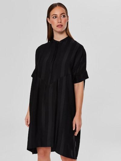 SELECTED FEMME Midikleid in schwarz, Modelansicht