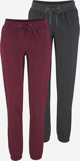 VIVANCE Spodnie 'Active' w kolorze antracytowy / bordowym, Podgląd produktu