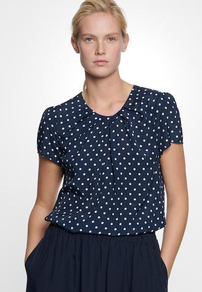 SEIDENSTICKER Shirtbluse ' Schwarze Rose ' in blau / weiß, Modelansicht