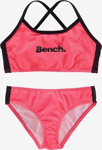 BENCH Športové plavky - ružová