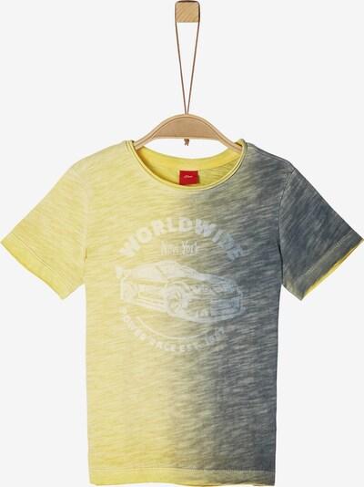 s.Oliver Shirt in blau / gelb / weiß, Produktansicht