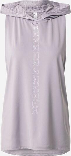 UNDER ARMOUR Haut de sport en violet pastel / blanc, Vue avec produit