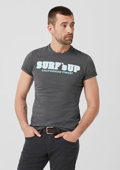 s.Oliver Shirt in aqua / dunkelgrau: Frontalansicht
