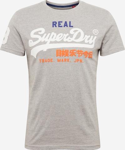 Tricou Superdry pe gri / portocaliu / alb: Privire frontală