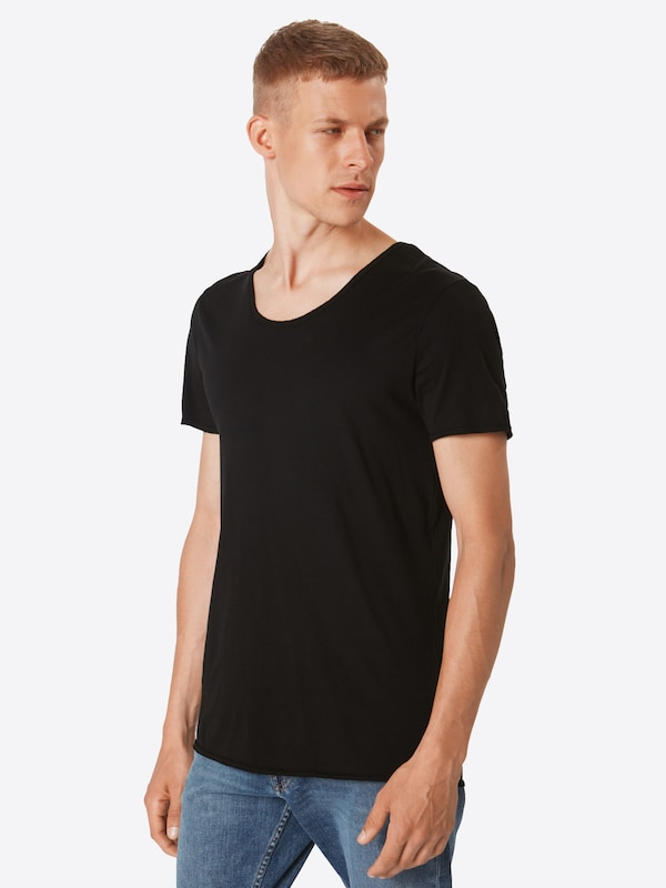 shirt Noir T 'nos neck En Denim Tailor V Tee' Tom 9DHI2E