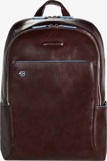 Piquadro Backpack 'Blue Square' in Light blue / Chestnut brown, Item view