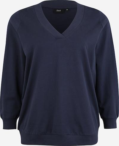 Zizzi Sweatshirt 'MLUNA, L/S, SWEAT' in indigo, Produktansicht