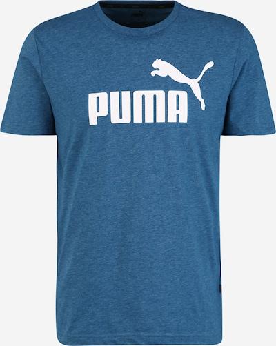 PUMA T-Shirt fonctionnel 'Heather' en bleu / blanc, Vue avec produit
