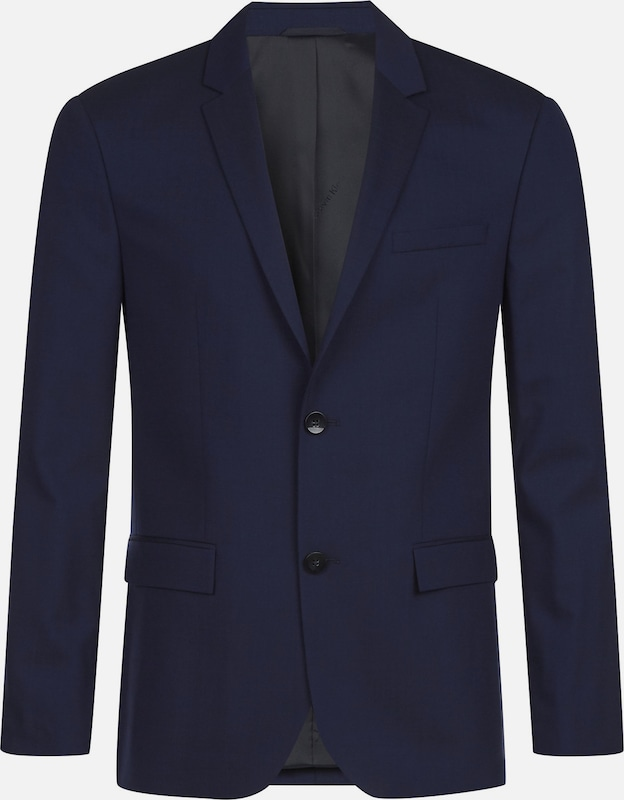 Calvin Klein Fitted Wool Stretch Blazer in dunkelblau, Produktansicht