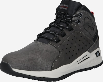 Dockers by Gerli Sneakers hoog in de kleur Grijs / Donkergrijs / Rood / Wit, Productweergave