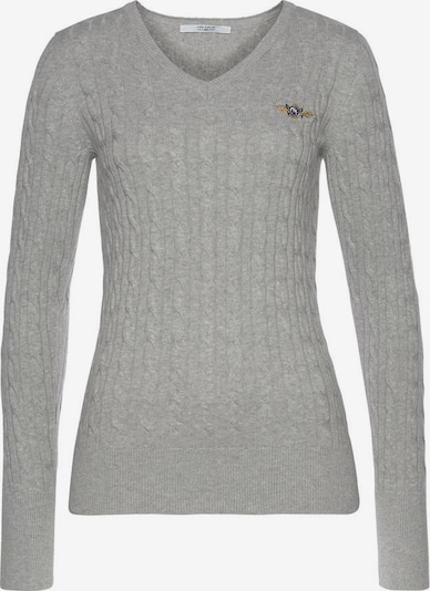 Tom Tailor Polo Team Pullover in grau, Produktansicht