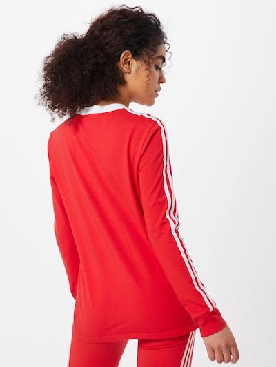 ADIDAS ORIGINALS Shirt '3 STR LS' in rot / weiß: Rückansicht