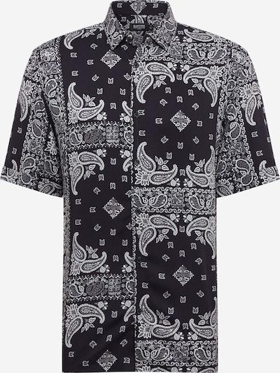 BURTON MENSWEAR LONDON Srajca 'BANDANA' | črna / bela barva, Prikaz izdelka